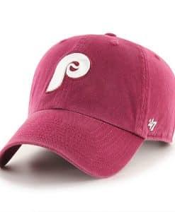Philadelphia Phillies 47 Brand Cooperstown Cardinal Clean Up Adjustable Hat