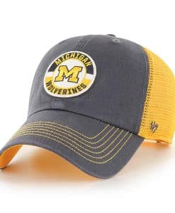 Michigan Wolverines 47 Brand Vintage Navy Porter Clean Up Mesh Adjustable Hat