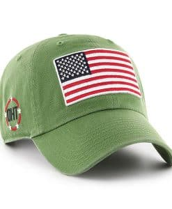 new styles 4bbdd 85565 Operation Hat Trick 47 Brand Clean Up Fatigue Green USA Flag Hat