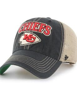 Kansas City Chiefs 47 Brand Vintage Black Tuscaloosa Clean Up Mesh Adjustable Hat