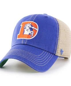 Denver Broncos 47 Brand Trawler Blue Classic Clean Up Adjustable Hat