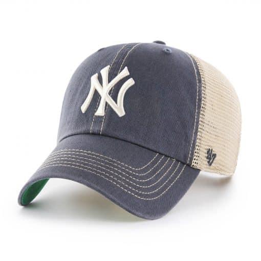 New York Yankees 47 Brand Trawler Vintage Navy Clean Up Mesh Adjustable Hat