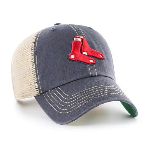 Boston Red Sox 47 Brand Trawler Vintage Navy Classic Clean Up Adjustable Hat