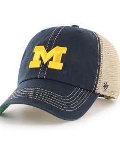 Michigan Wolverines 47 Brand Trawler Navy Clean Up Mesh Adjustable Hat