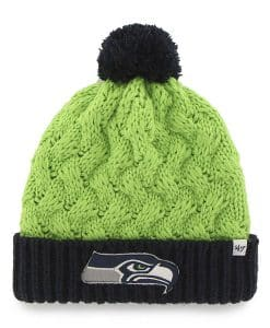 Seattle Seahawks Women's 47 Brand Matterhorn Lime Cuff Knit Hat