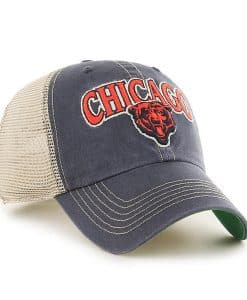 Chicago Bears 47 Brand Vintage Navy Tuscaloosa Clean Up Adjustable Hat