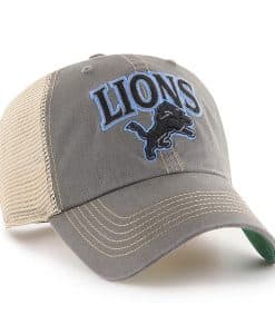 Detroit Lions 47 Brand Charcoal Tuscaloosa Clean Up Adjustable Hat