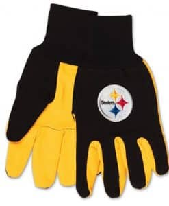 Pittsburgh Steelers Two Tone Gloves - Adult Size