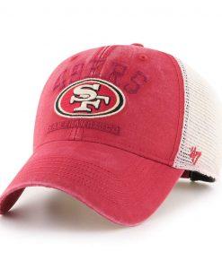 San Francisco 49ers 47 Brand Vintage Red Brayman MVP Adjustable Hat