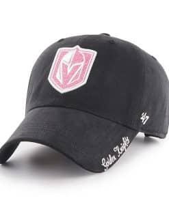 Vegas Golden Knights Women's 47 Brand Sugar Miata Black Pink Clean Up Adjustable Hat
