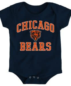 Chicago Bears Baby Navy Onesie Creeper