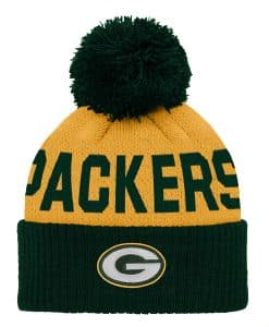 Green Bay Packers INFANT Baby Dark Green Yellow Cuff Knit Hat