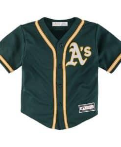 Oakland Athletics Baby Majestic Alternate Dark Green Jersey