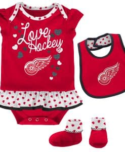 Detroit Red Wings Baby Red 3-Piece Creeper