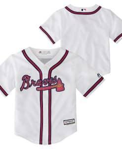 Atlanta Braves Baby Majestic White Home Jersey