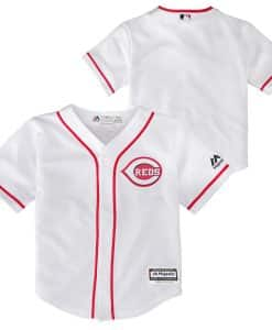Cincinnati Reds Baby Majestic White Home Jersey