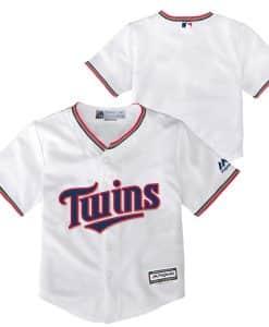 Minnesota Twins Baby Majestic White Home Jersey
