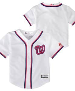 Washington Nationals Baby Majestic White Home Jersey