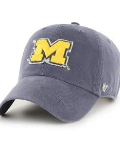 Michigan Wolverines 47 Brand Vintage Navy Oakdale Clean Up Adjustable Hat