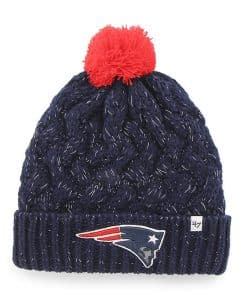New England Patriots INFANT 47 Brand Light Navy Fiona Cuff Knit Hat