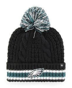 Philadelphia Eagles Women's 47 Brand Black Sorority Cuff Knit Hat