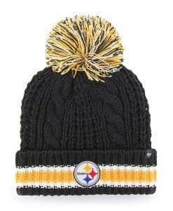 Pittsburgh Steelers Women's 47 Brand Black Sorority Cuff Knit Hat