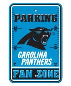 Carolina Panthers Fan Zone Parking Style Plastic Sign 12x18