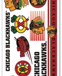 Chicago Blackhawks Temporary Tattoos