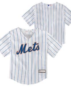 New York Mets Baby 24M White Home Pinstripe Jersey