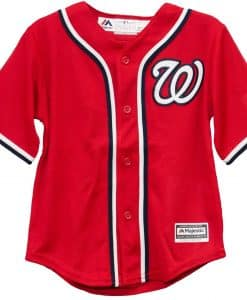 Washington Nationals Baby Majestic Red Jersey