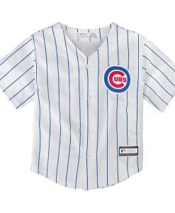 Chicago Cubs Baby 24M Majestic White Classic Pinstriped Jersey
