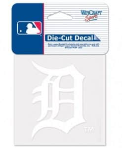 Detroit Tigers 4x4 Perfect Cut White Decal