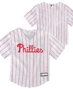 Philadelphia Phillies Baby White Home Pinstriped Jersey
