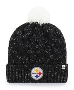 Pittsburgh Steelers Women's 47 Brand Black Fiona Cuff Knit Hat