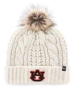 Auburn Tigers Women's 47 Brand White Cream Meeko Cuff Knit Hat