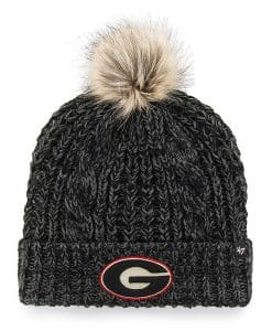 Georgia Bulldogs Women's 47 Brand Black Meeko Cuff Knit Hat