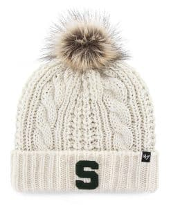 Michigan State Spartans Women's 47 Brand White Cream Meeko Cuff Knit Hat