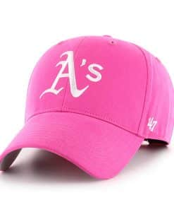 Oakland Athletics YOUTH 47 Brand Pink MVP Adjustable Hat