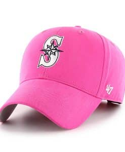 Seattle Mariners YOUTH 47 Brand Pink MVP Adjustable Hat