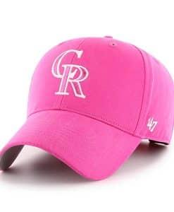 Colorado Rockies YOUTH 47 Brand Pink MVP Adjustable Hat
