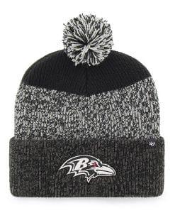 Baltimore Ravens 47 Brand Black Static Cuff Knit Hat