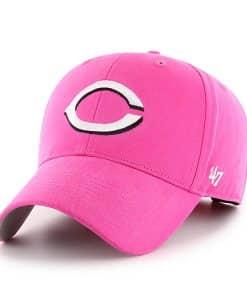 Cincinnati Reds YOUTH Girls 47 Brand MVP Pink Girls Adjustable Hat
