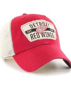 Detroit Red Wings 47 Brand Vintage Red Crawford Clean Up Adjustable Hat