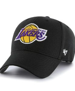 Los Angeles Lakers 47 Brand Black MVP Adjustable Hat