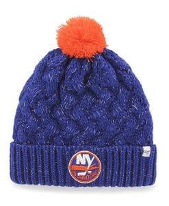 New York Islanders Women's 47 Brand Blue Fiona Cuff Knit Hat