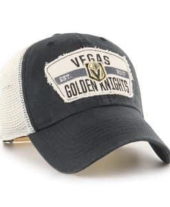 Vegas Golden Knights 47 Brand Vintage Black Crawford Clean Up Adjustable Hat