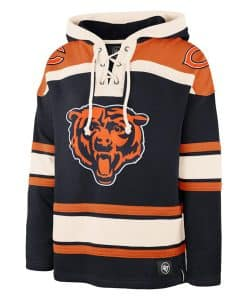 Chicago Bears Men's 47 Brand Navy Pullover Jersey Hoodie