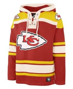 Kansas City Chiefs Men's 47 Brand Red Pullover Jersey Hoodie
