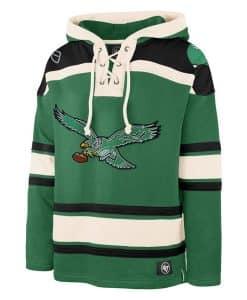Philadelphia Eagles Men's 47 Brand Classic Green Pullover Jersey Hoodie