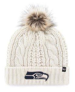 Seattle Seahawks Women's 47 Brand White Meeko Cuff Knit Hat